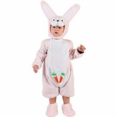 Carnaval  Roze konijnenkostuumje een baby