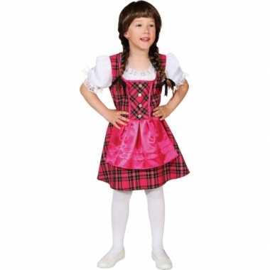 Carnaval  Roze Oktoberfest kostuum jurk kinderen