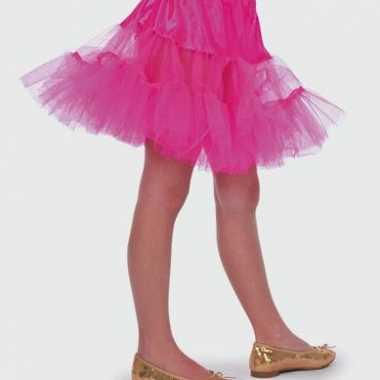 Carnaval  Roze onderrokje meisjes kostuum