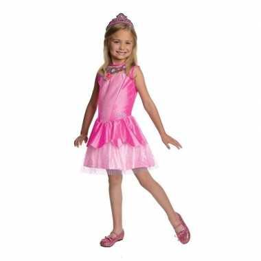 Carnaval roze prinsesen kostuum jurkje meisjes
