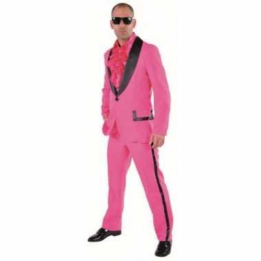 Carnaval  Roze smoking kostuum heren