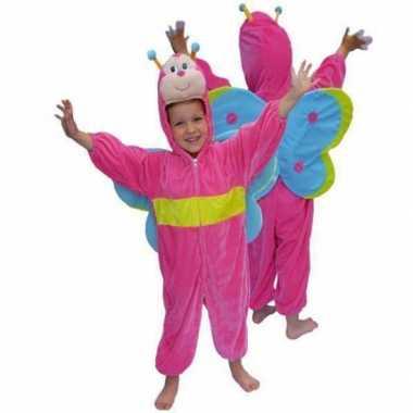 Carnaval  Roze vlinder kostuum pluche