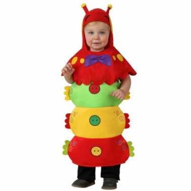 Carnaval  Rupsen kostuumje peuters hoedje