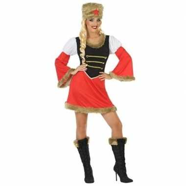 Carnaval russische kozak verkleed kostuum jurk dames
