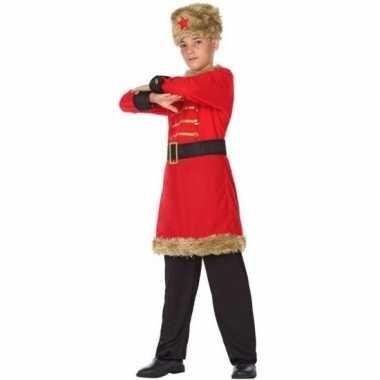 Carnaval russische kozakken verkleed kostuum jongens
