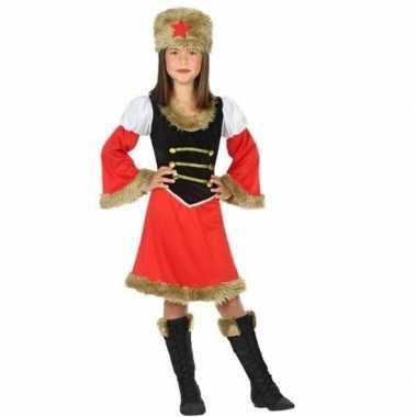 Carnaval russische kozakken verkleed kostuum jurk meisjes