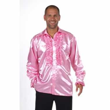 Carnaval  Satijnen roze kostuum rouches