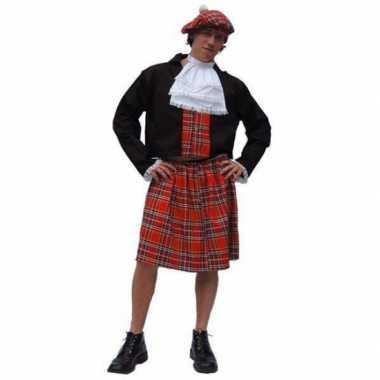 Carnaval  Schotse heren kilt kostuum