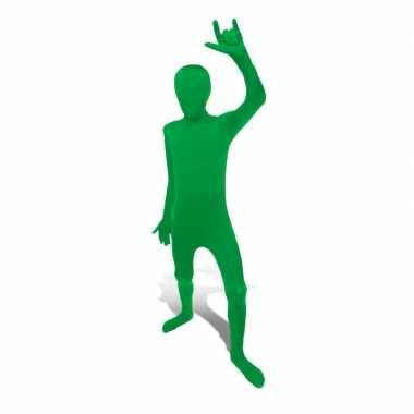 Carnaval  Second skin kostuum groen kids