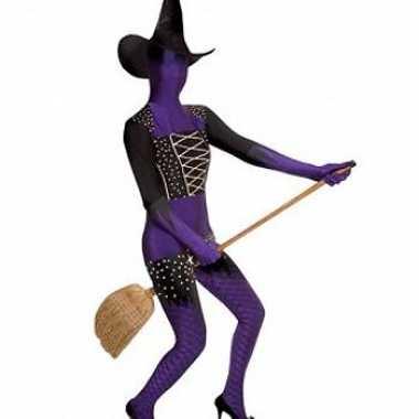 Carnaval  Second skin kostuum heks