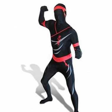 Carnaval  Second skin kostuum ninja