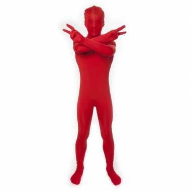 Carnaval  Second skin kostuum rood kids