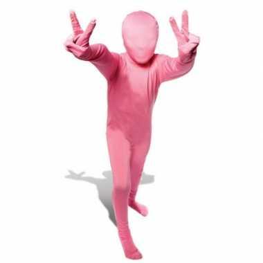 Carnaval  Second skin kostuum roze kids