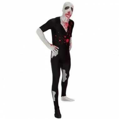 Carnaval  Second skin kostuum zombie