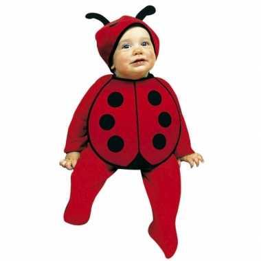 Carnaval  Setje babymutsje/slabbetje lieveheersbeestjes stijl kostuum