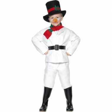 Carnaval  Sneeuwpop kostuum kinderen