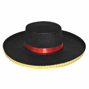 Carnaval spaanse dames hoed carmen kostuum