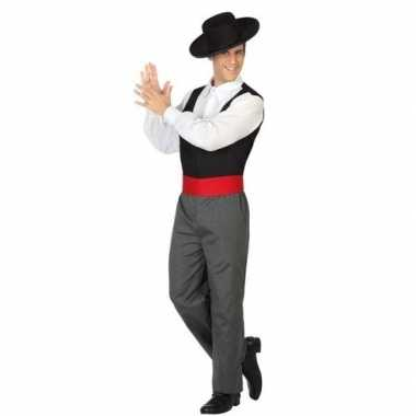 Carnaval spaanse flamencodanser verkleed kostuum heren
