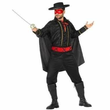 Carnaval spaanse gemaskerde held verkleed kostuum heren