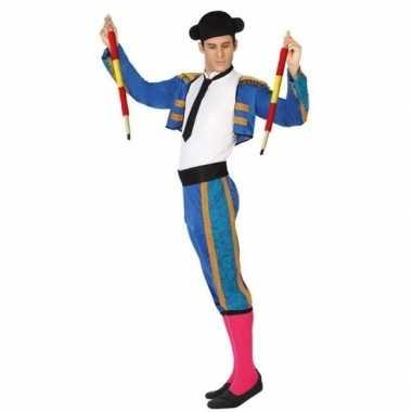 Carnaval spaanse matador/stierenvechter verkleed kostuum heren