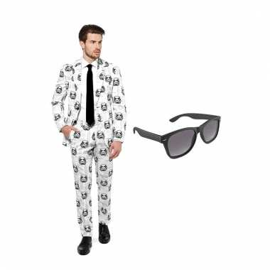 Carnaval stormtrooper heren kostuum maat (xxxl) gratis zonnebril