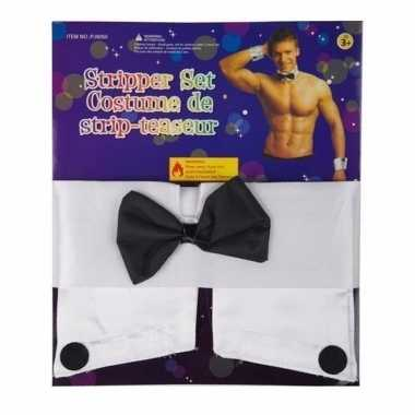 Carnaval stripper setje heren kostuum