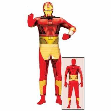 Carnaval superheld metalen man kostuum volwassenen