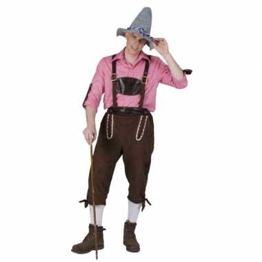 Carnaval  Tiroler kuitbroek heren kostuum