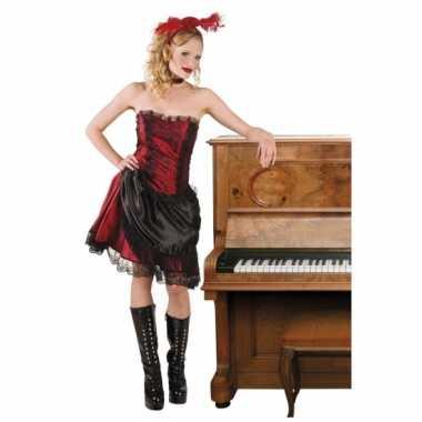 Carnaval toppers western kostuum saloongirl