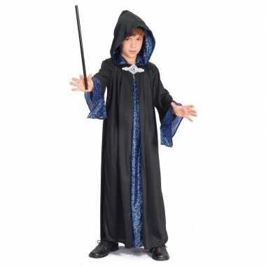 Carnaval  Tovenaar kinder kostuum zwart/blauw