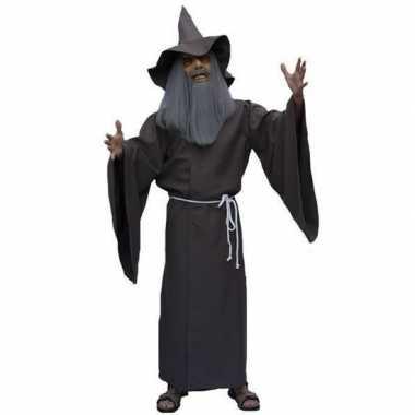 Carnaval  Tovenaars gewaad bruin kostuum