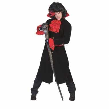 Carnaval  Vampieren gothic jas rode mouwen kostuum