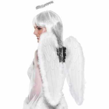 Carnaval verkleedaccessoires vleugels wit kostuum