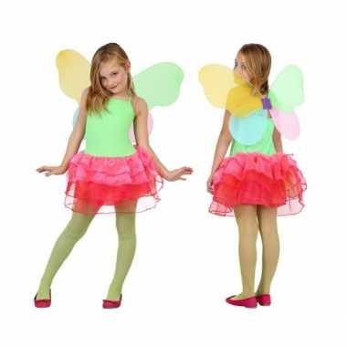 Carnaval  Vlinder kostuum kids groen/rood