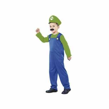 Carnaval  Voordelig groen Loodgieter kostuum jongens
