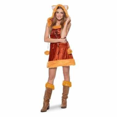 Carnaval vos dierenkostuum kostuum jurkje dames
