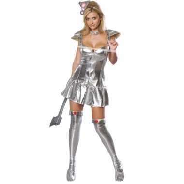 Carnaval  VrouwelijkeTin Man Wizzard of Oz kostuum