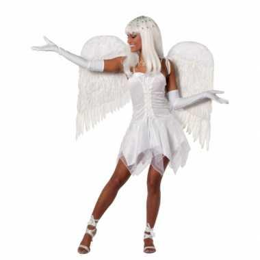 Carnaval  Wit feest kostuum jurk dames