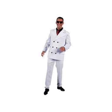 Carnaval  Wit gangster kostuum heren