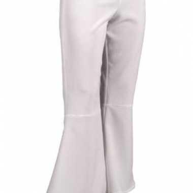 Carnaval  Witte disco dames broek kostuum