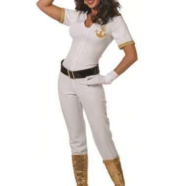 Carnaval  Witte matrozen catsuit dames kostuum