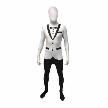 Carnaval  Witte smoking kostuum volwassenen