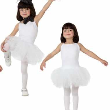 Carnaval  Witte tutu kostuum jurkje meisjes