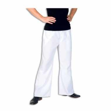 Carnaval witte verkleed broek heren kostuum