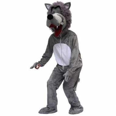 Carnaval wolven kostuum pluche