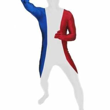 Carnaval  Zentai kostuum Franse vlag