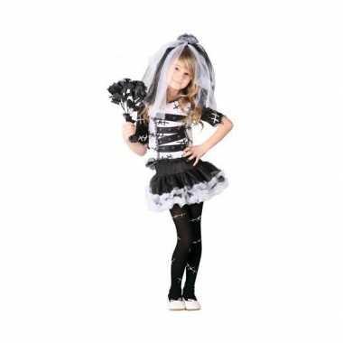 Carnaval zombie bruidsjurk meisjes kostuum