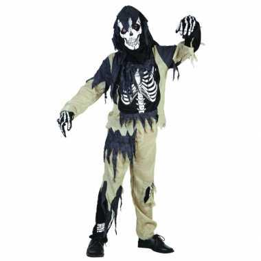 Carnaval  Zombie skeletten kostuum kinderen