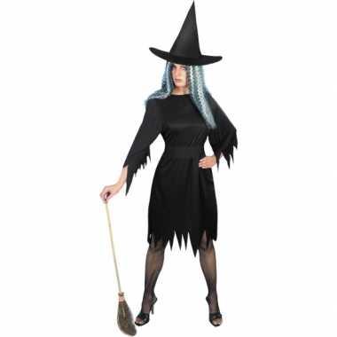 Carnaval  Zwart heksenkostuum dames