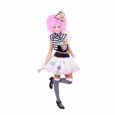 Carnaval  Zwart witte clown kostuum dames